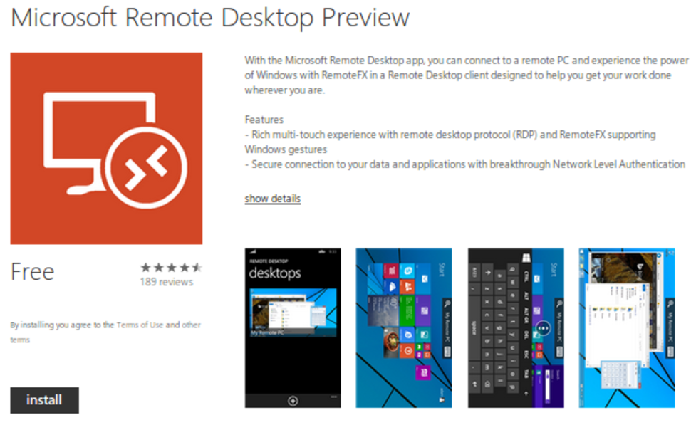 Microsoft Remote Desktop Preview app releases, letting you cont