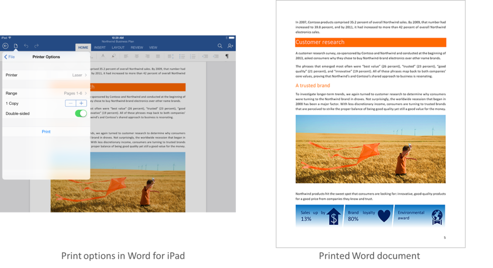 Microsoft Office for iPad update includes printing options for
