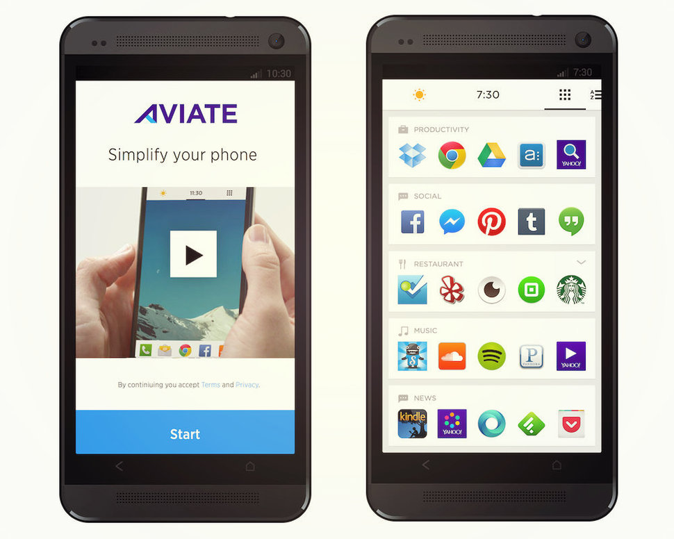 now yahoo gets in on the android launcher game with aviate app image 1