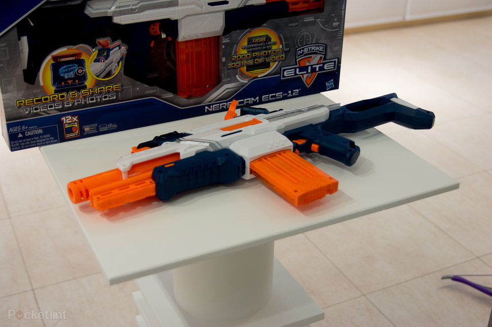 nerf nstrike procam a blaster with built in camera so you can record your  takedowns image