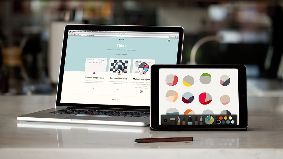 first we got fiftythree s paper and pencil now we get mix collaborative creation tool image 1