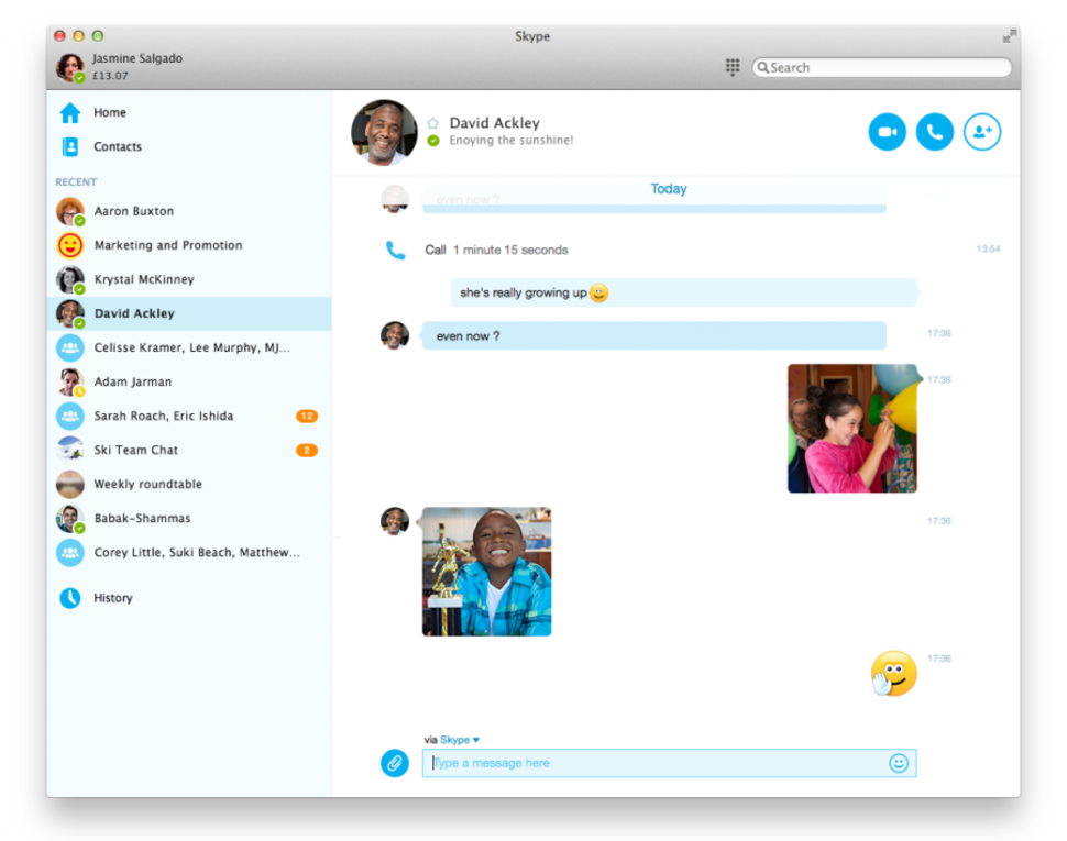 Skype for Mac and Windows don a new look, with bolstered chat e