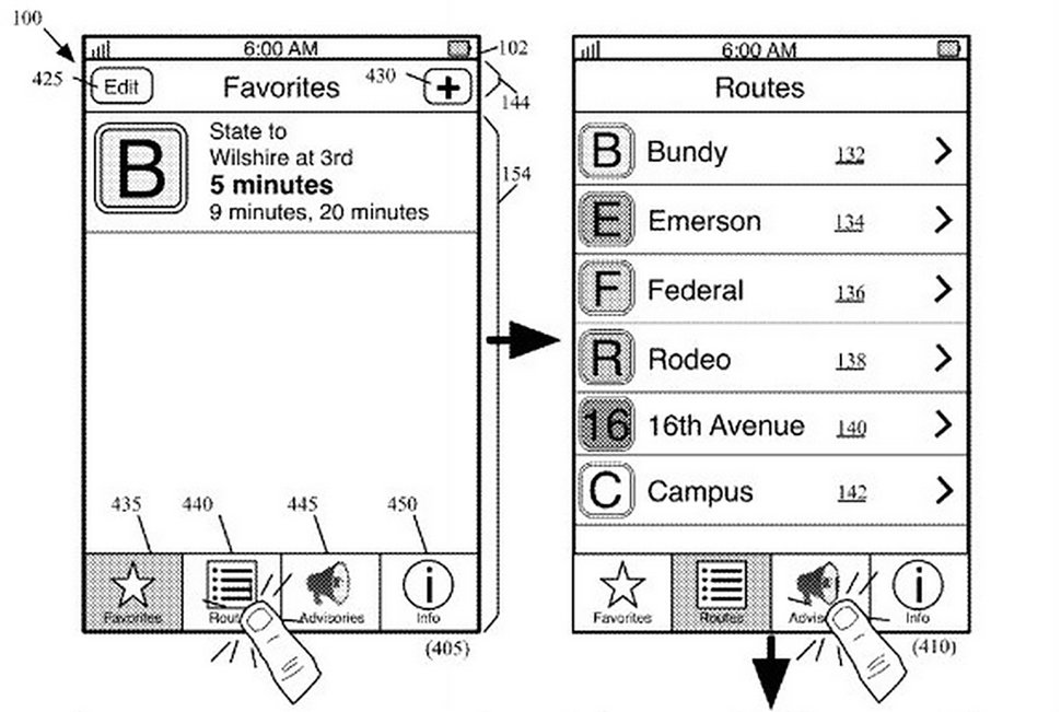 apple s public transit feature revealed in patent possibly for maps image 1