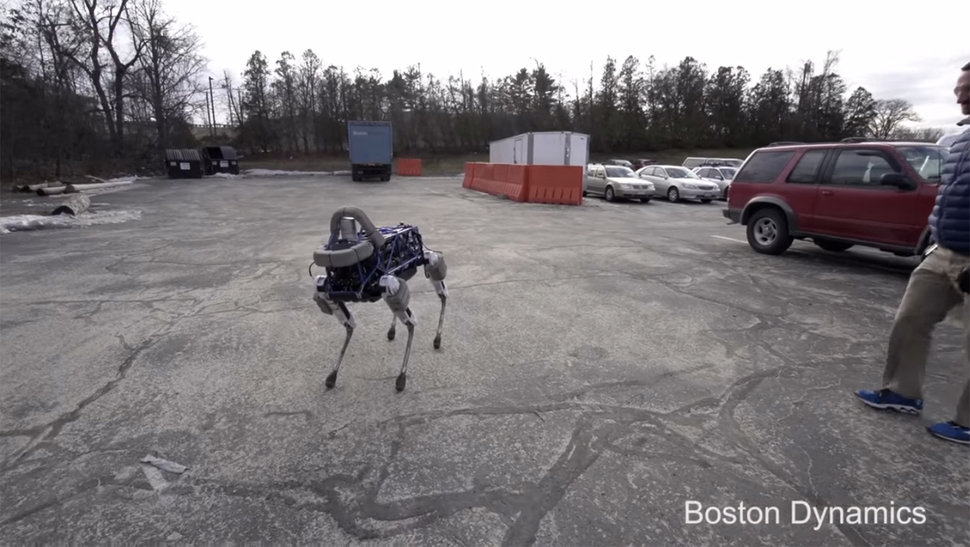 Boston Dynamics' new robo-dog Spot is more of a pup, small but