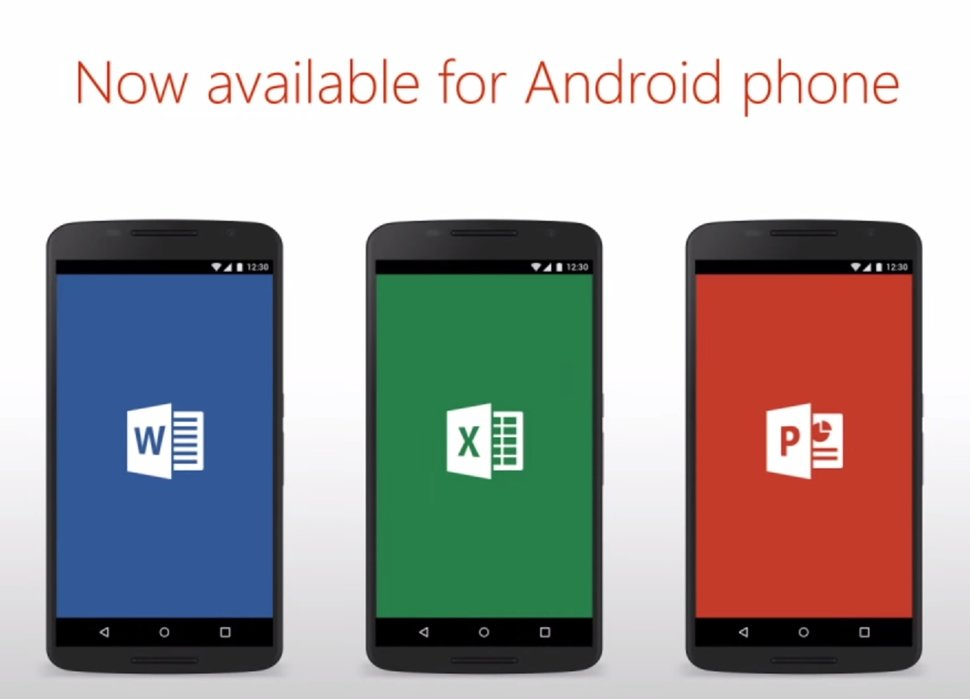 Microsoft office officially launches for android phone includes three main apps pocket lint - Office apps for android free ...