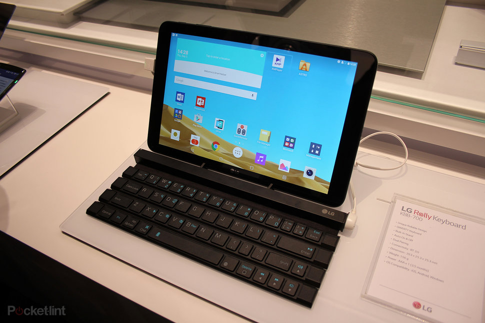 Lg Rolly Keyboard Will Roll Up To Fit In Your Pocket Almost