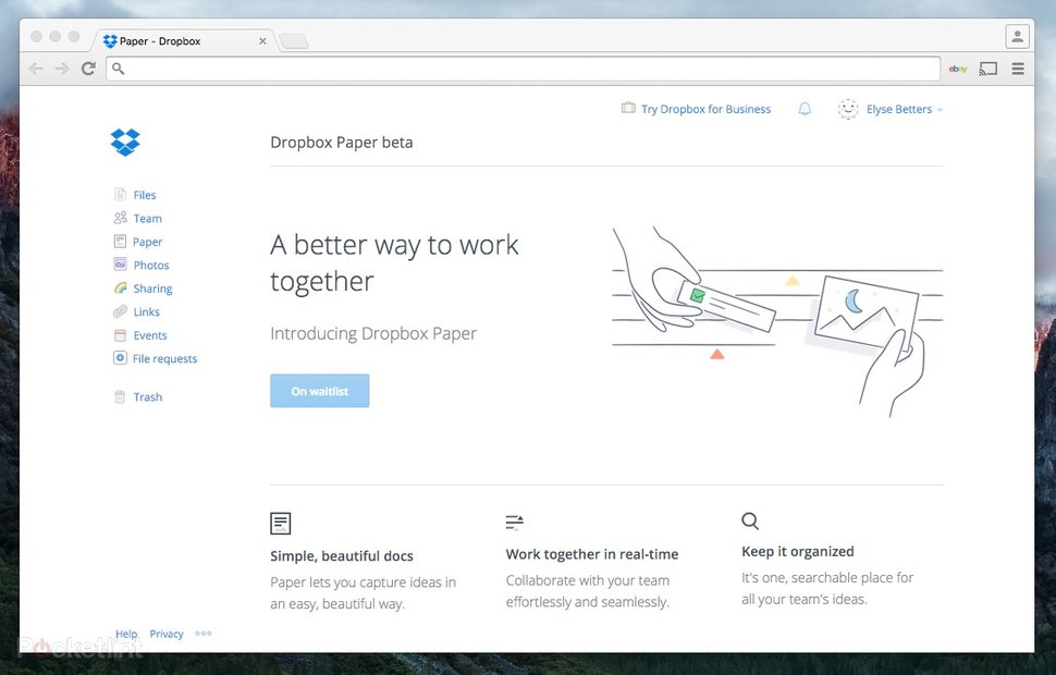 Dropbox Paper is a Google Docs-like text editor that doubles as