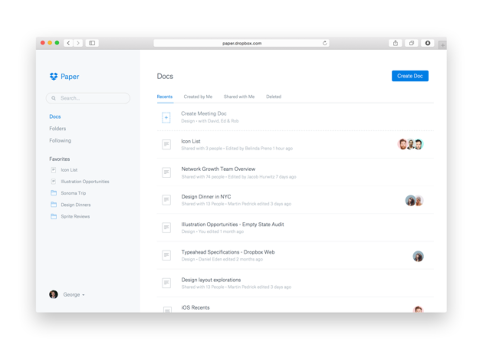 Dropbox paper is a google docs like text editor that for Google documents editor