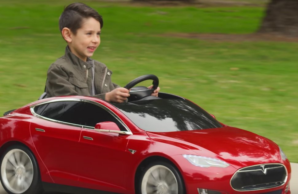 Radio Flyer Made A Tesla Model S For Kids With Working Headlightore Image 1