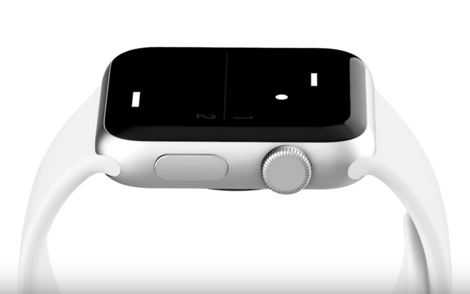 Meet the tiniest game of pong for your Apple Watch