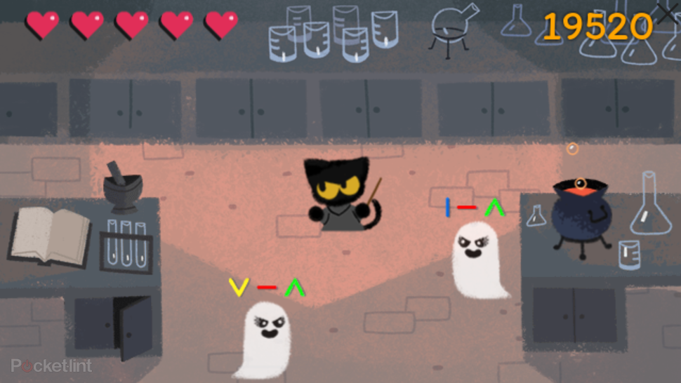 how to play the awesome halloween google doodle image 1