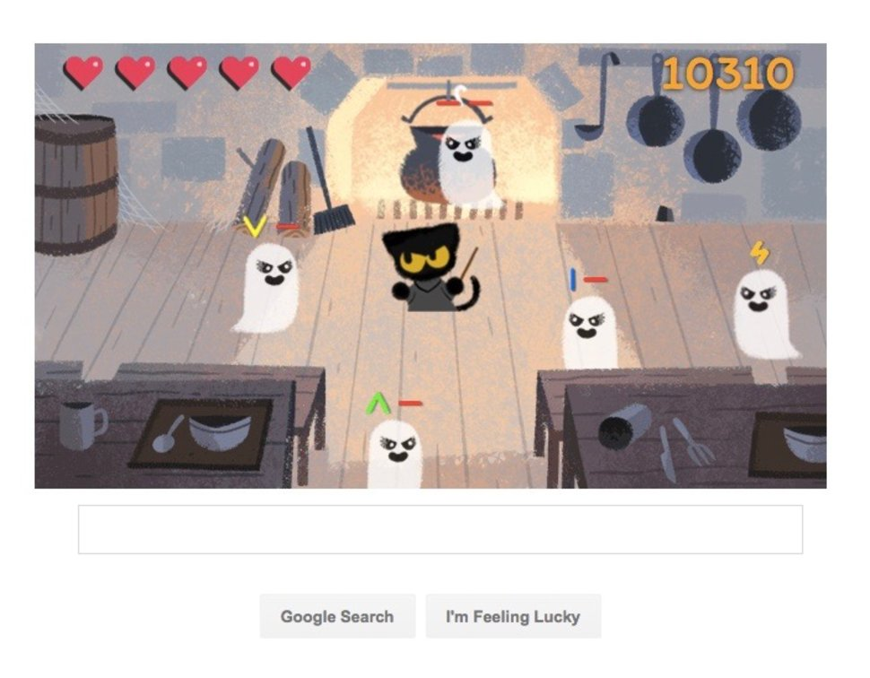 how to play the awesome halloween google doodle image 2