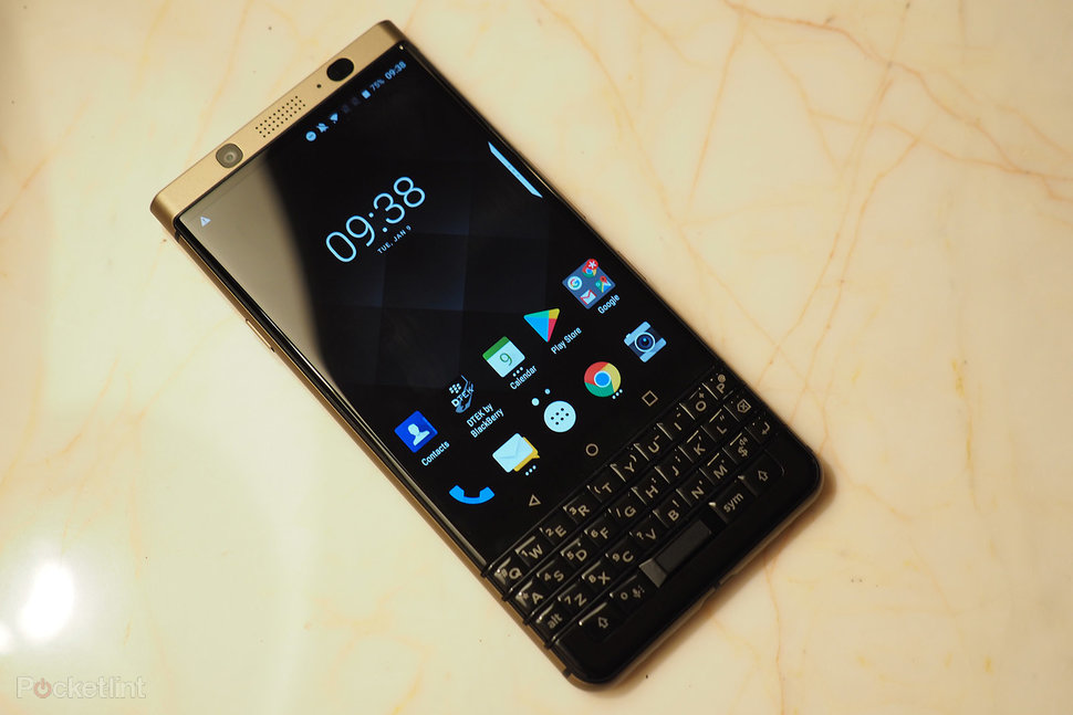 This is the BlackBerry KeyOne Bronze: A dual-SIM BB in a molten bronze-gold  finish