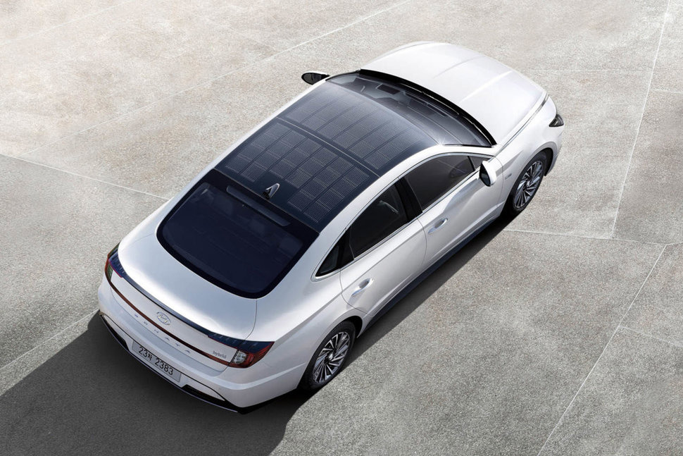 Hyundai New Sonata Hybrid With Solar Panel Roof Now On Sale