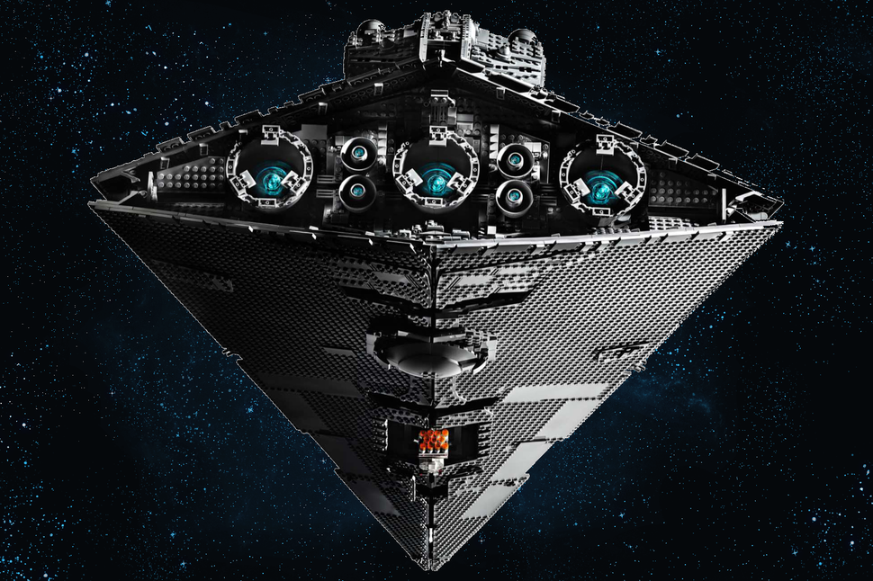 Lego Star Wars Imperial Star Destroyer is mammoth and very grey