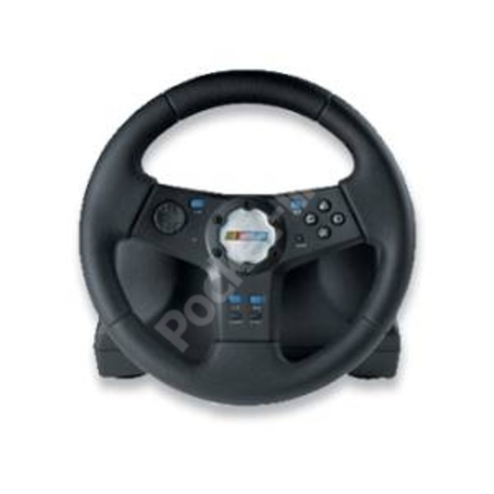 Logitech Rally Vibration Feedback Wheel and pedals for PS2 - Po