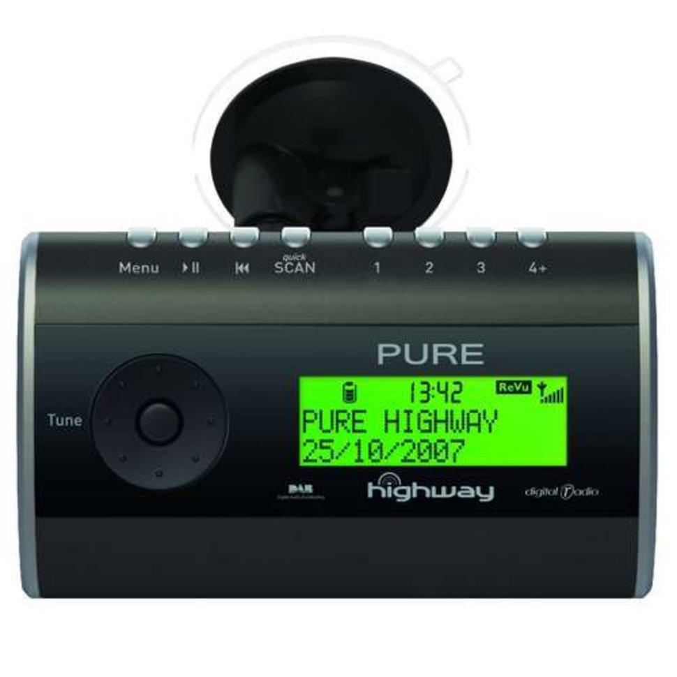 pure highway in car dab digital radio with fm transmitter. Black Bedroom Furniture Sets. Home Design Ideas