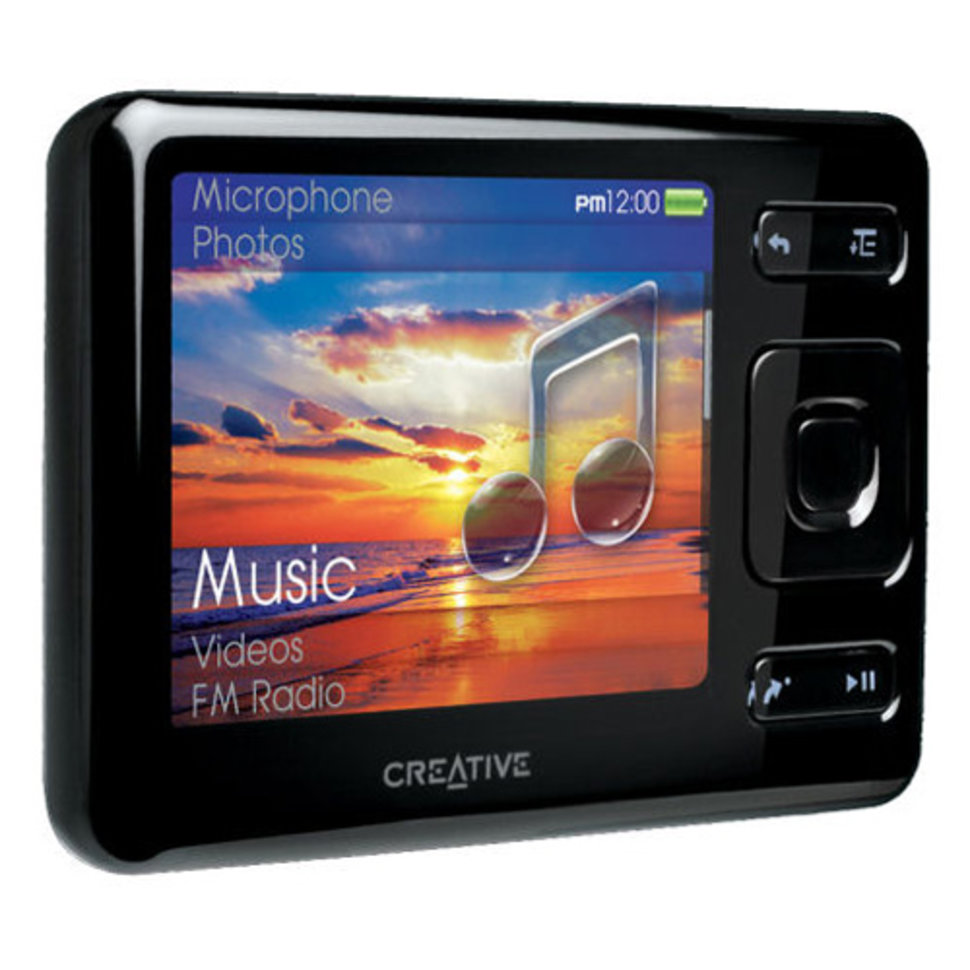 creative zen mx mp3 player rh pocket lint com Creative Zen Media Player Creative Zen Media