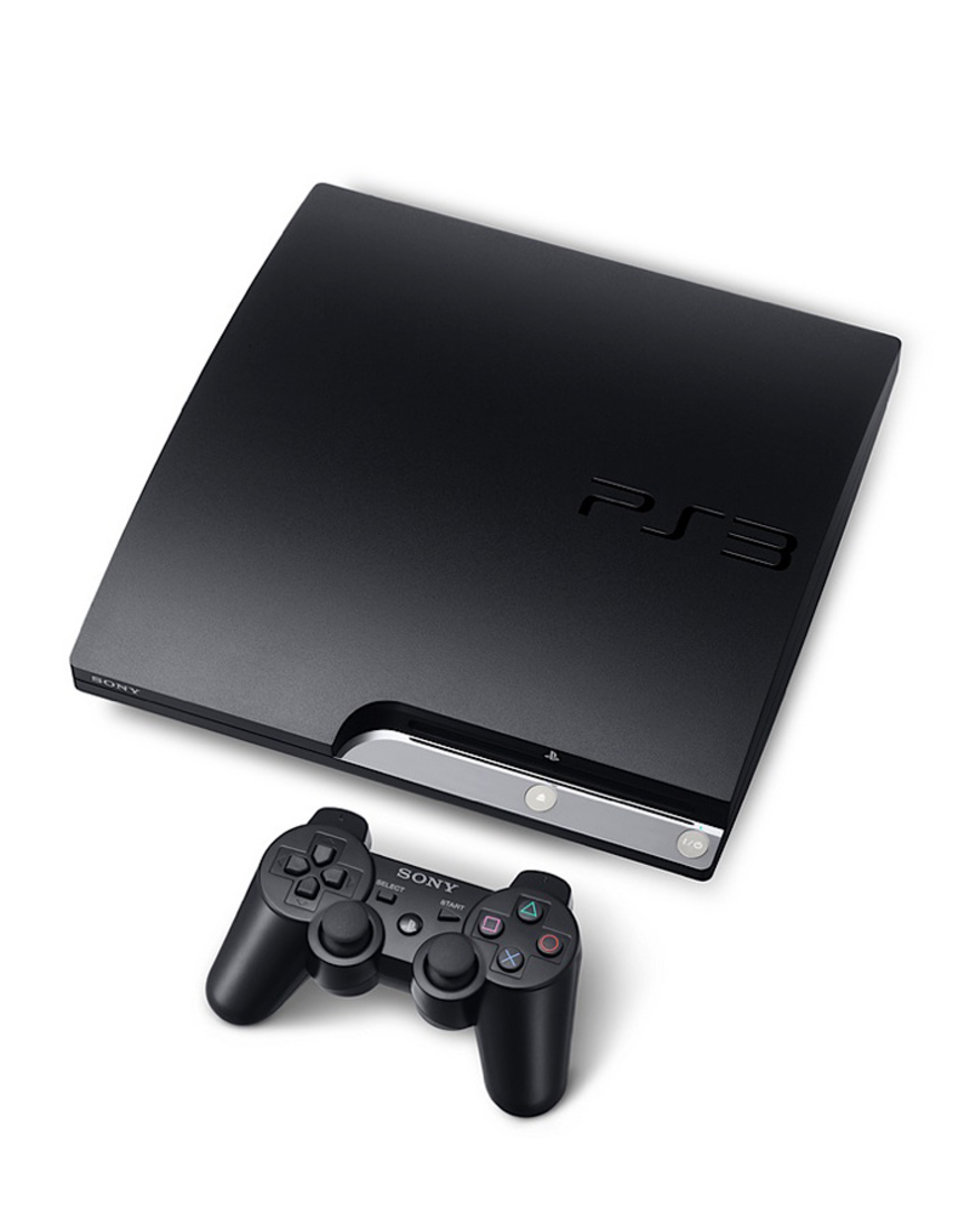 sony playstation 3 ps3 slim console. Black Bedroom Furniture Sets. Home Design Ideas
