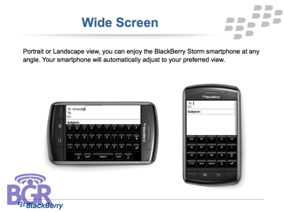 BlackBerry Storm guide docs leaked - Pocket-lint