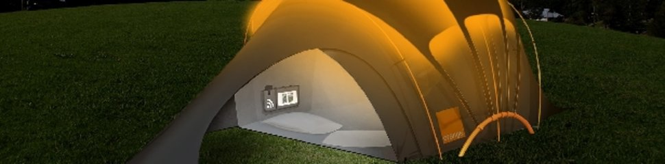 Orange reveals updated solar tent concept & Orange reveals updated solar tent concept - Pocket-lint