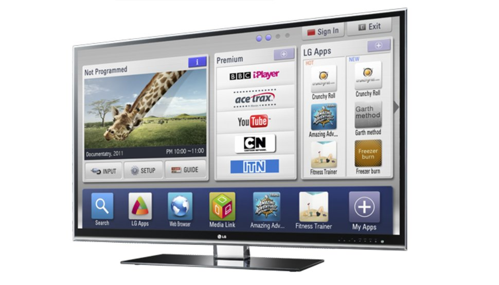 apps on the LG 55LW980T TV
