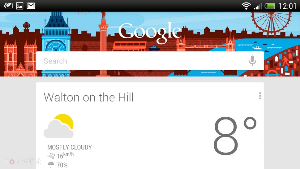 HTC Sense Google Now